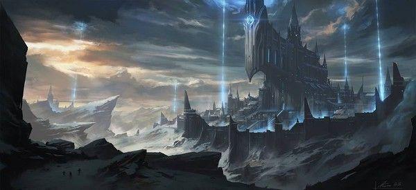 paysage fantastique elfe